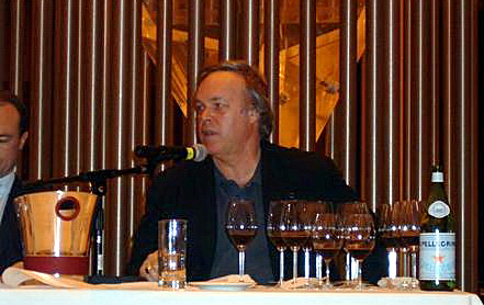 Parker at Chateau Latour tasting in San Francisco in 2003