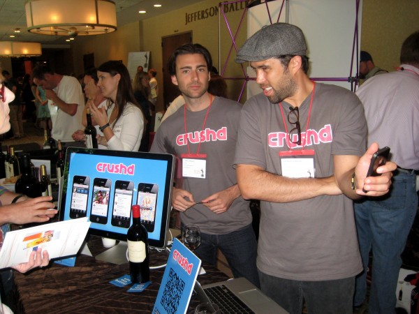 Crushd smartphone app being demo'd (app went out of business 2 months later)