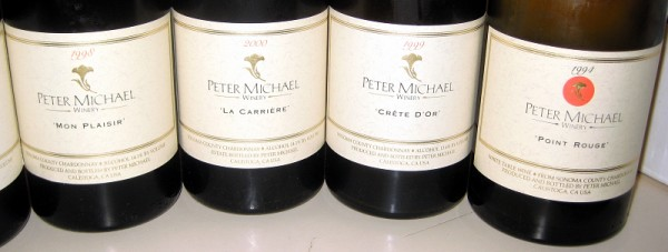Peter Michael Chardonnays