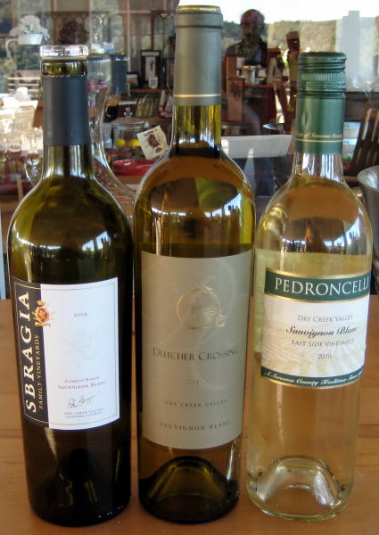 Dry Creek Valley Sauvignon Blancs