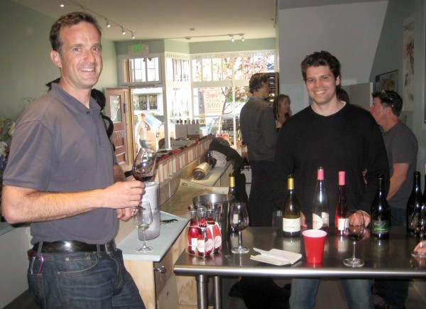 Jeff Pisoni, right, at Noe Valley Wine Merchants