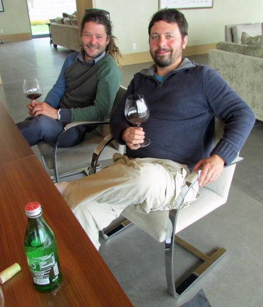 Presqu'ile winemaker Dieter Conje with La Fenêtre owner/winemaker Josh Klapper