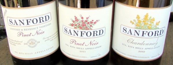 Sanford Pinot Noirs and Chardonnay