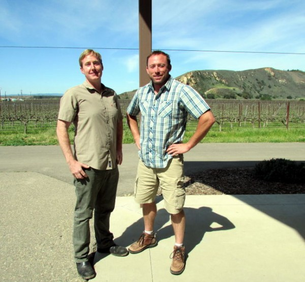 Winemaker Trey Fletcher and Vineyard Manager Chris Hammell at Bien Nacido