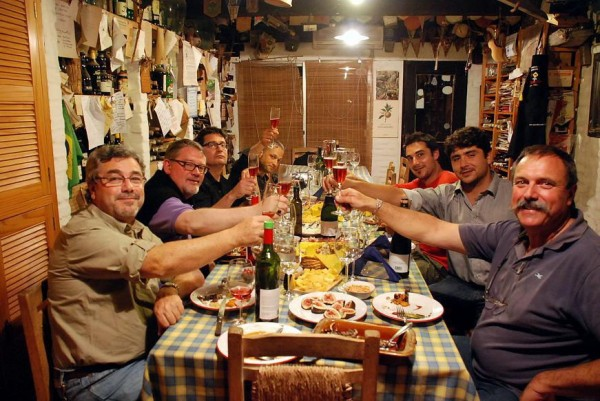 Dinner with the Pisanos (photo by Gustavo Pisano)