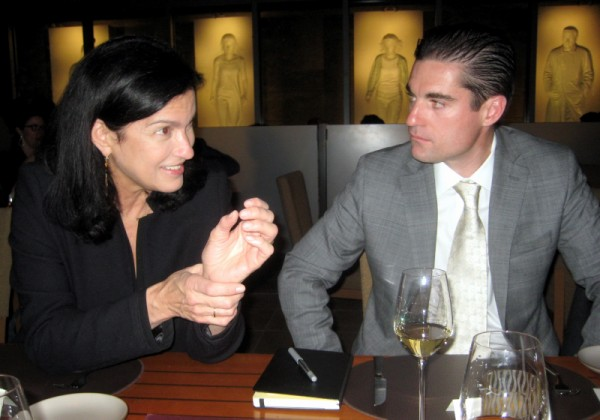 Krug CEO & President Maggie Henriquez with K&L's Gary Westby at Quattro