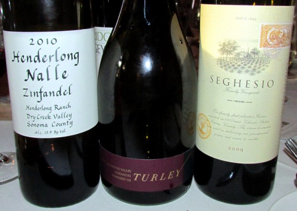 standout wines at Historic Vineyard Society 2013 dinner